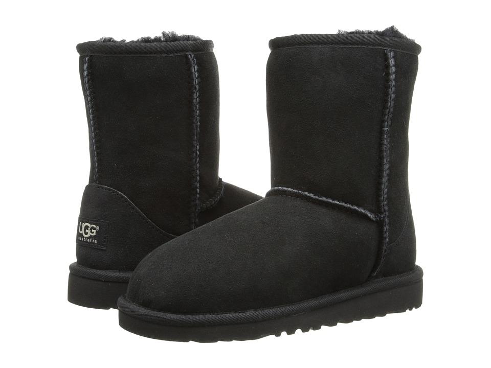Ugg Kids - Classic (Little Kid/Big Kid) (Black) Kids Shoes