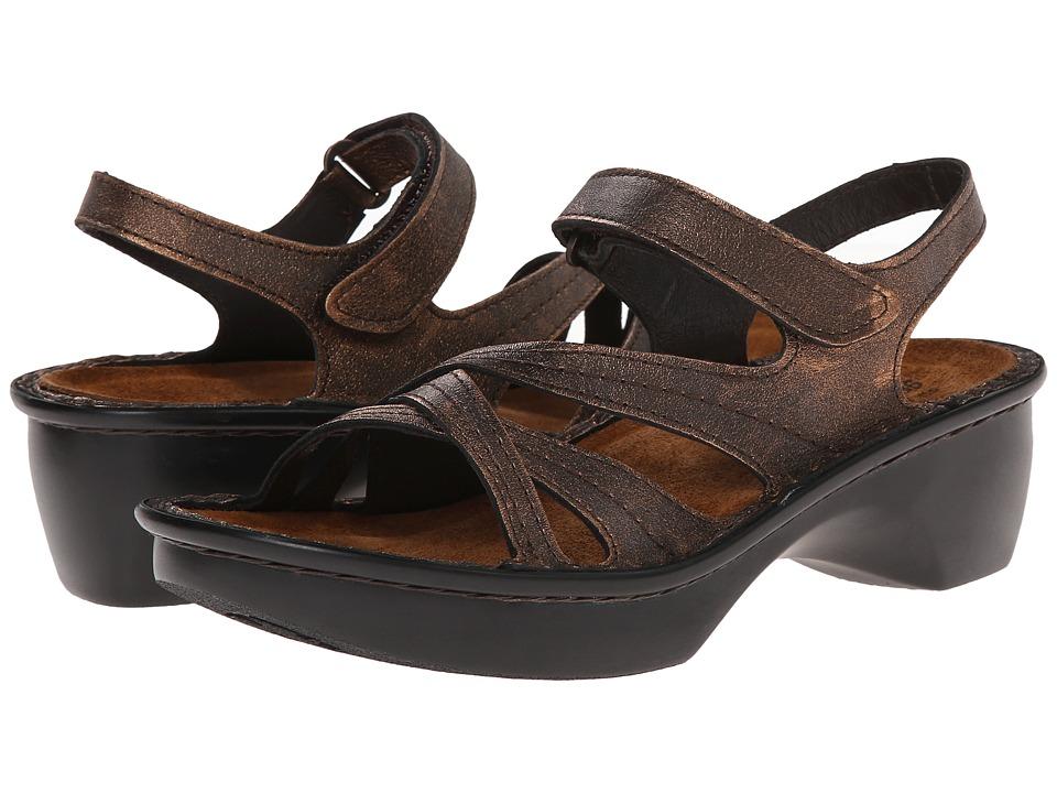 Naot Footwear Paris (Burnt Copper Leather) Sandals