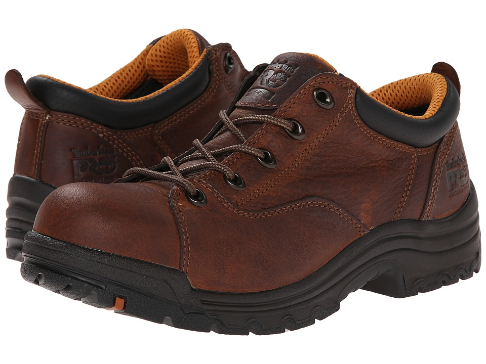 Timberland PRO TiTAN Oxford Alloy Safety Toe (Brown Full-Grain Leather) Women's