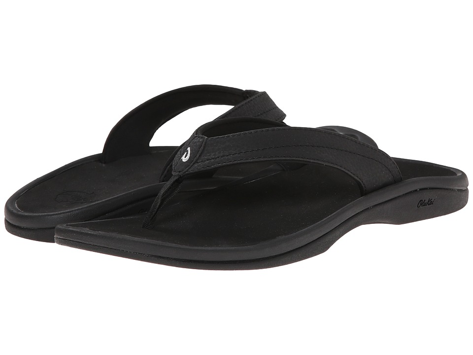 OluKai Ohana W (Black/Black) Sandals