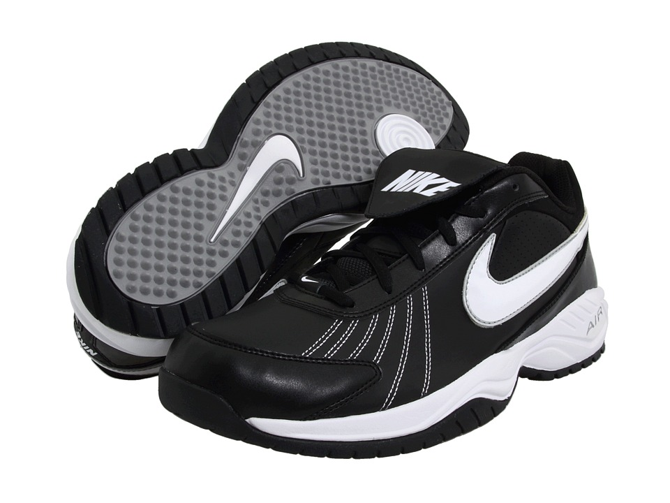 Nike Air Diamond Trainer (Black/White/Silver) Cleated Shoes