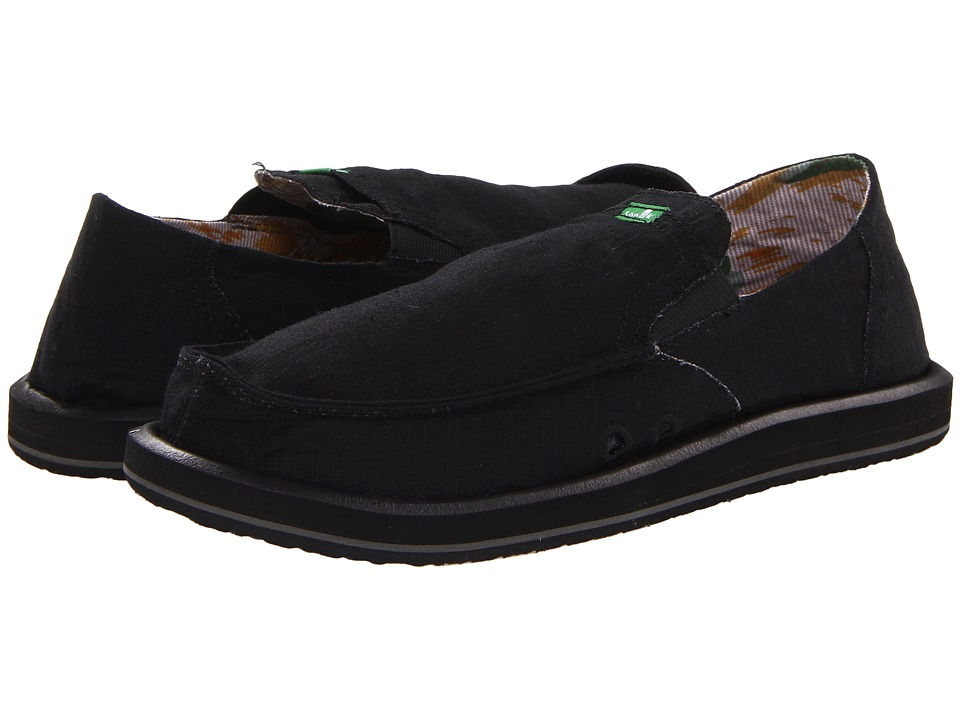 Sanuk - Pick Pocket (Black) Men's Slip on  Shoes