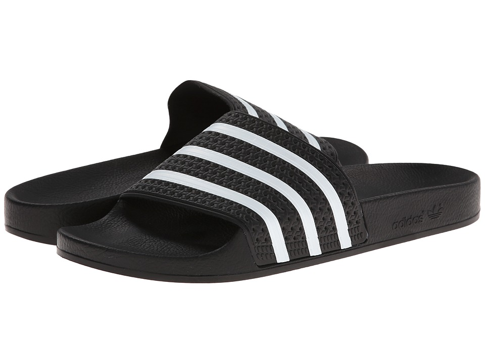 adidas Adilette (Black/White) Shoes