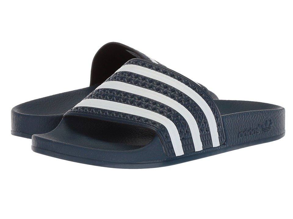 adidas Adilette (New Navy/White) Shoes