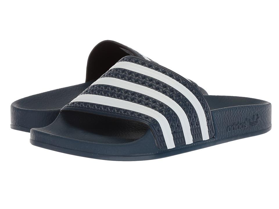 adidas - Adilette (New Navy/White) Shoes