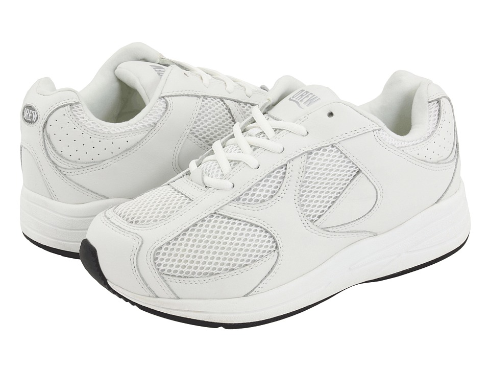 Drew - Surge (White/White Perf Leather/White Mesh) Men
