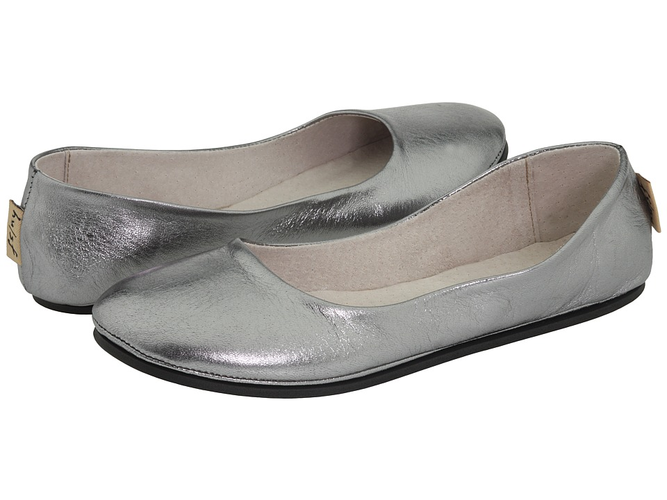 French Sole Sloop Flat (Pewter Metallic Nappa) Flats
