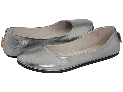French Sole Sloop Pewter Metallic Nappa