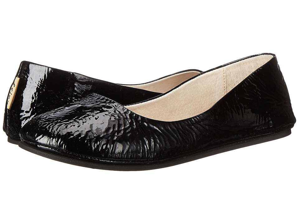 French Sole Sloop Flat (Black Patent) Flats