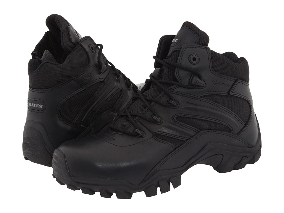 Bates Footwear Delta 6 Side Zip Black Mens Work Boots
