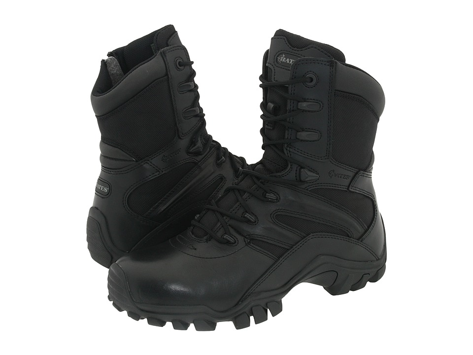 Bates Footwear Delta 8 Side Zip Black Mens Work Boots