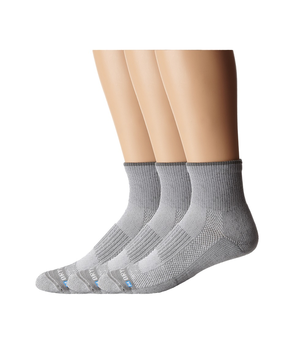 Drymax Sport - Lite Hiking Quarter Crew 3-Pair Pack (Grey) Quarter Length Socks Shoes