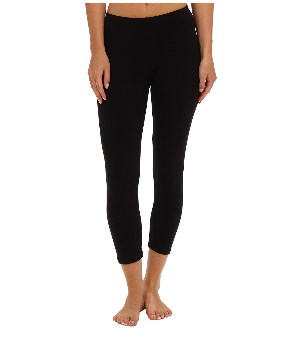 Splendid - Modal Crop Leggings (Black) Womens Capri