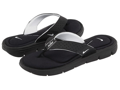Nike - Comfort Thong (Black/White) Women's Sandals