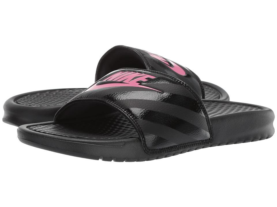 Nike Benassi JDI Slide (Black/Vivid Pink-Black) Sandals