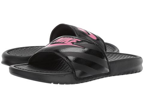 Nike Benassi JDI Slide - Black/Vivid Pink-Black