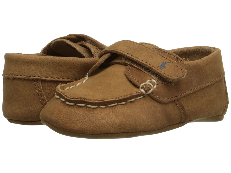 Polo Ralph Lauren Kids - Captain EZ Soft Sole (Infant/Toddler) (Tan Crazyhorse) Boys Shoes