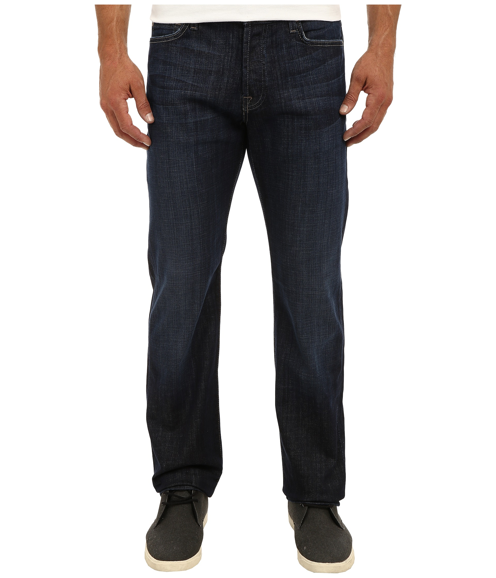 7 For All Mankind Standard Straight Leg in Los Angeles Dark at ...
