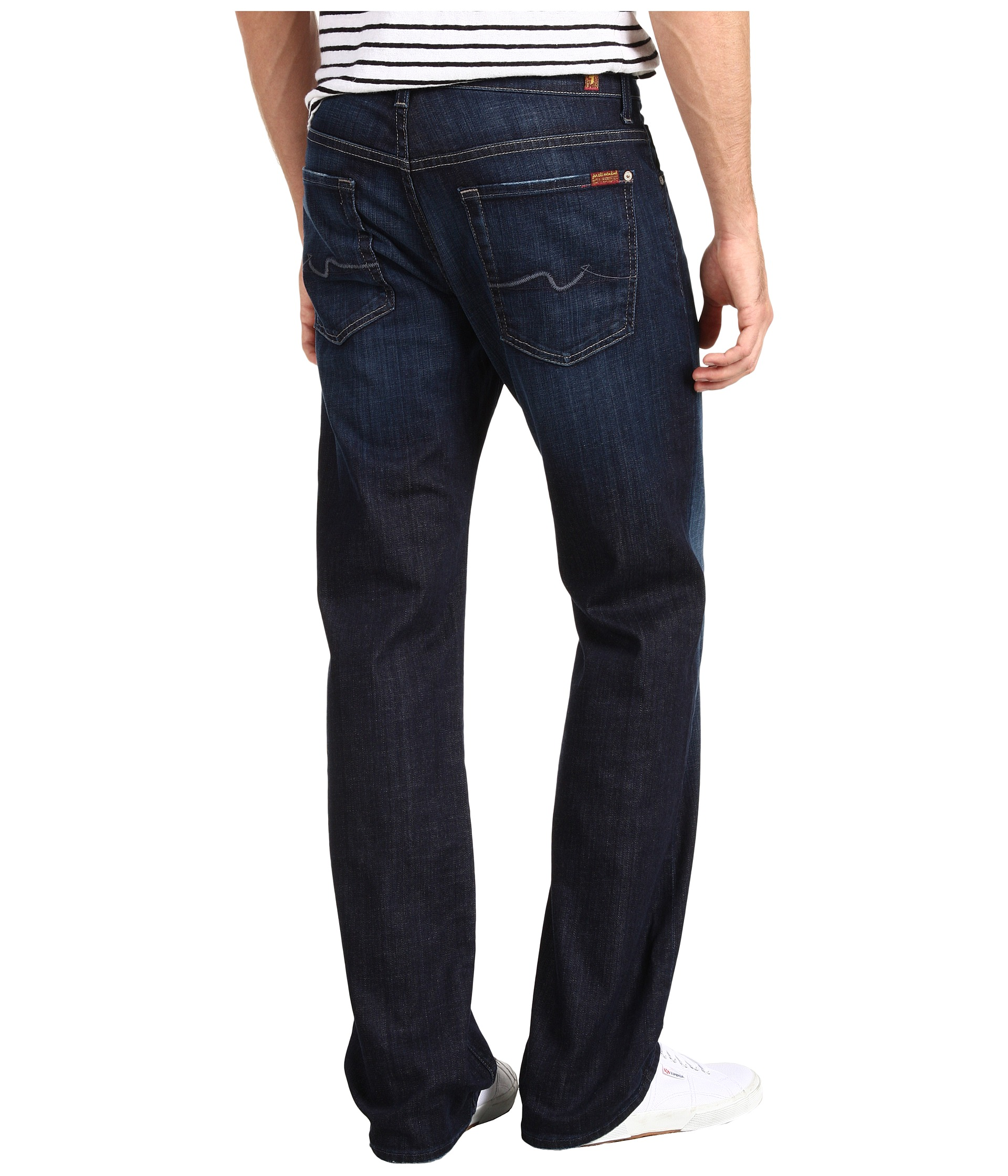 7 For All Mankind Austyn Relaxed Straight Leg in Los Angeles Dark ...