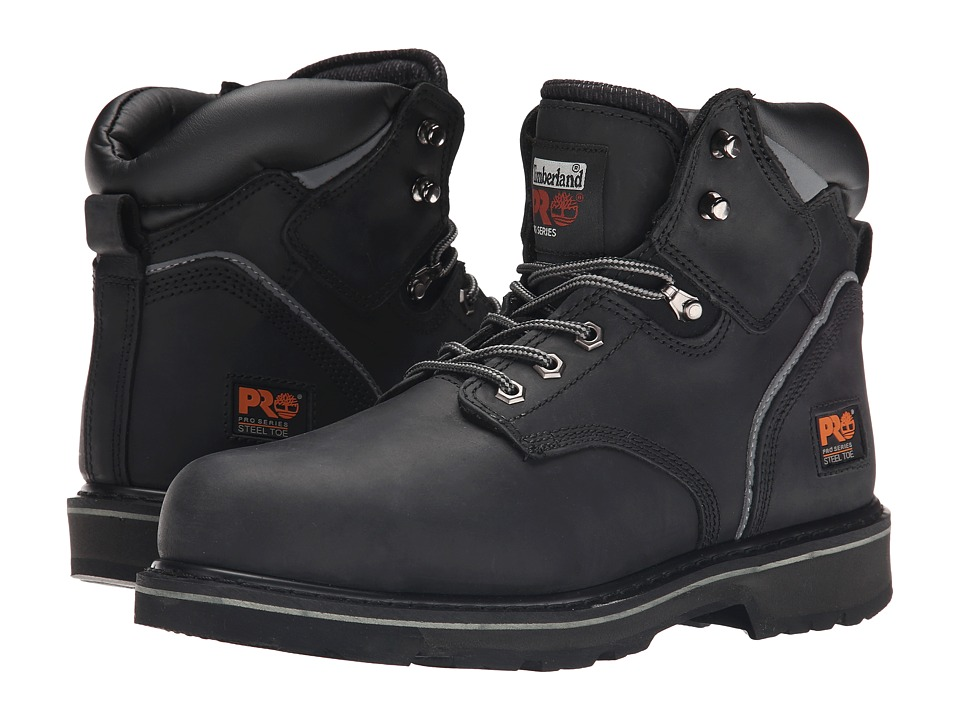 Timberland PRO - 6 Pit Boss Steel Toe (Black Oiled Full-Grain Leather) Men