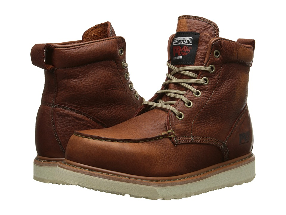 Timberland PRO - Timberland PRO 6 Wedge (Rust Full-Grain Leather) Men