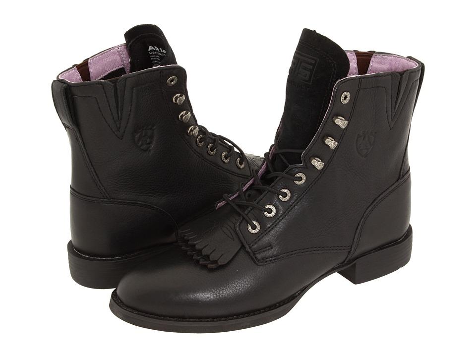 Ariat Heritage Lacer II (Black Deertan) Western Boots