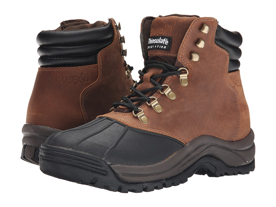 Propet - Blizzard Mid Lace (Brown/Black) Mens Boots