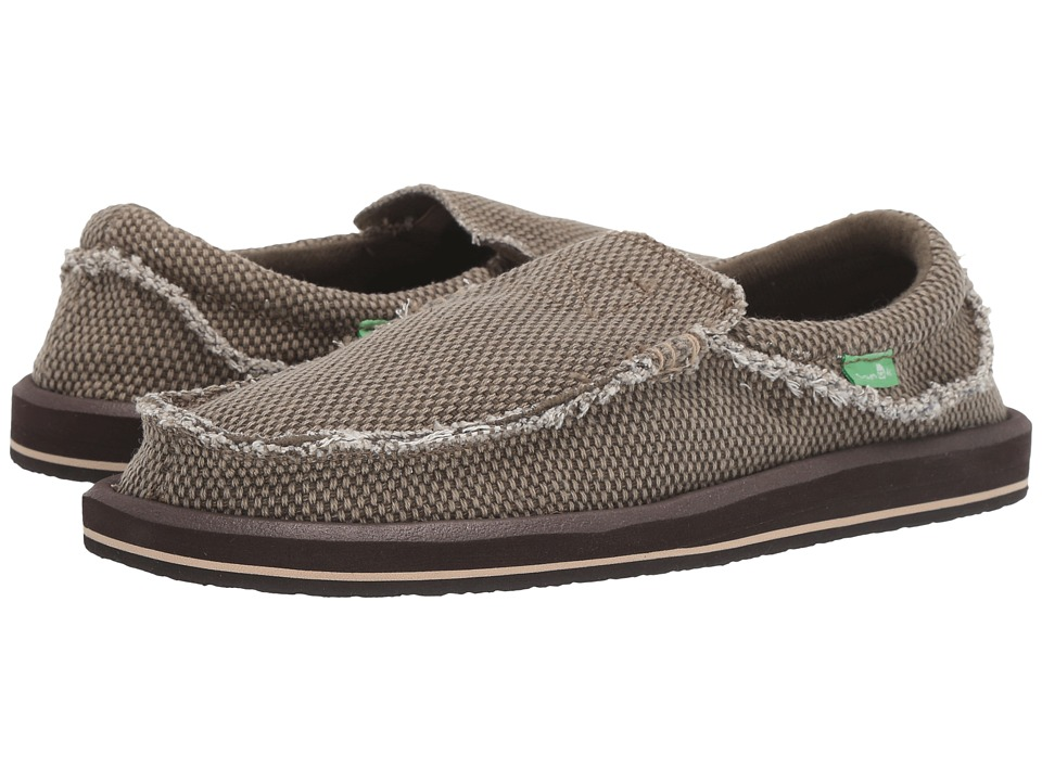 Sanuk - Chiba (Brown) Men's Slip on  Shoes