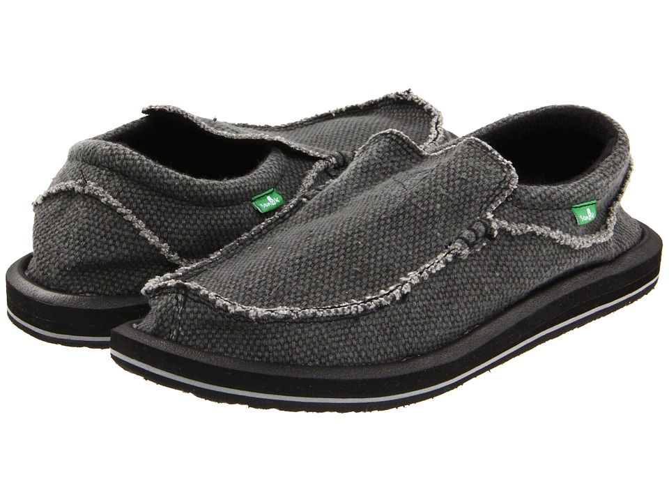 Sanuk Chiba Black Mens Slip on Shoes