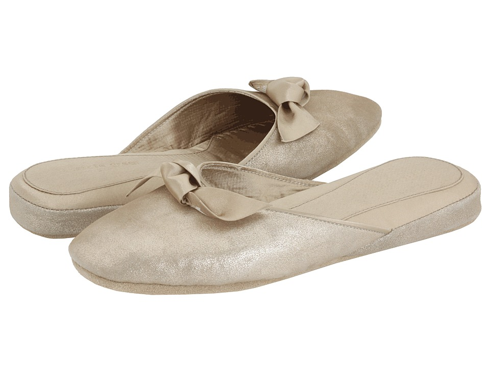 Patricia Green Giselle (Gold Leather) Slippers