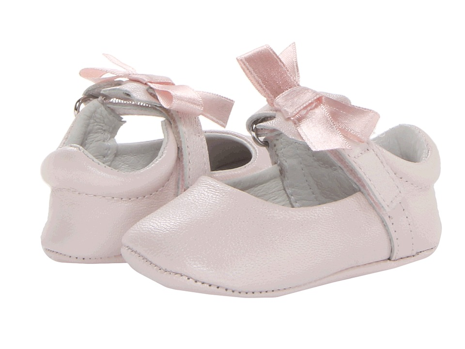 Pazitos Ballerina Infant/Toddler Pink Leather Girls Shoes
