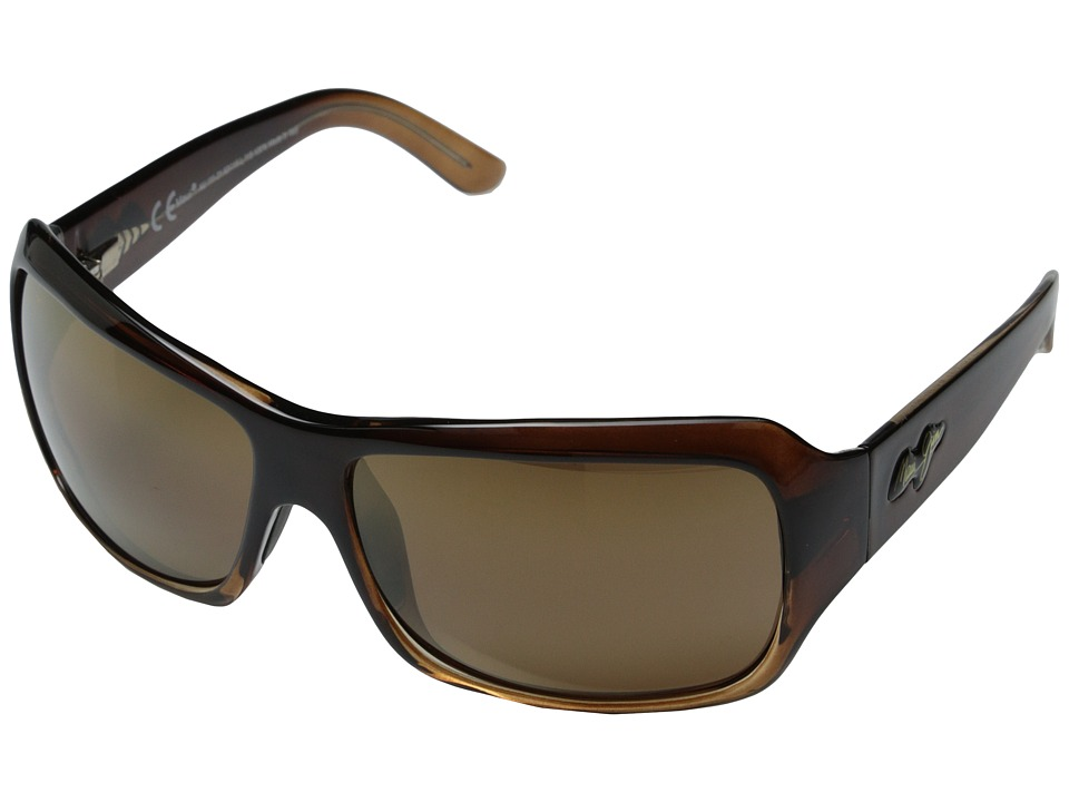 Maui Jim Palms (Chocolate Fade/HCL Bronze Lens) Sport Sunglasses