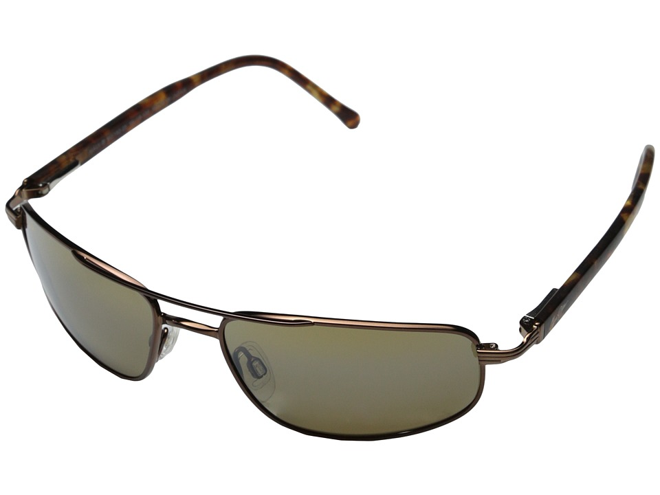 Maui Jim Kahuna (Metallic Gloss Copper/HCL Bronze Lens) Sport Sunglasses