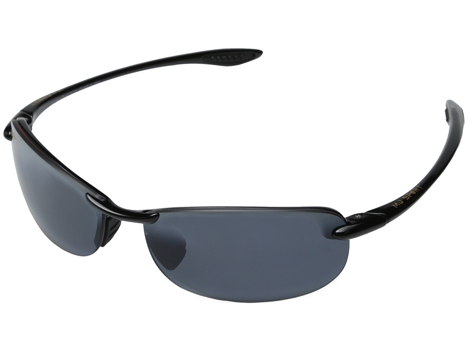 Maui Jim - Makaha (Gloss Black/Neutral Grey Lens) Sport Sunglasses