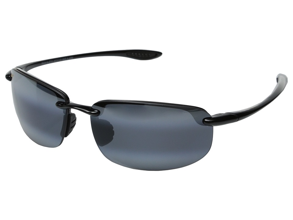 Maui Jim - Hookipa (Gloss Black/Neutral Grey Lens) Sport Sunglasses