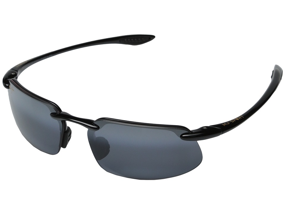 Maui Jim - Kanaha (Gloss Black/Neutral Grey Lens) Sport Sunglasses