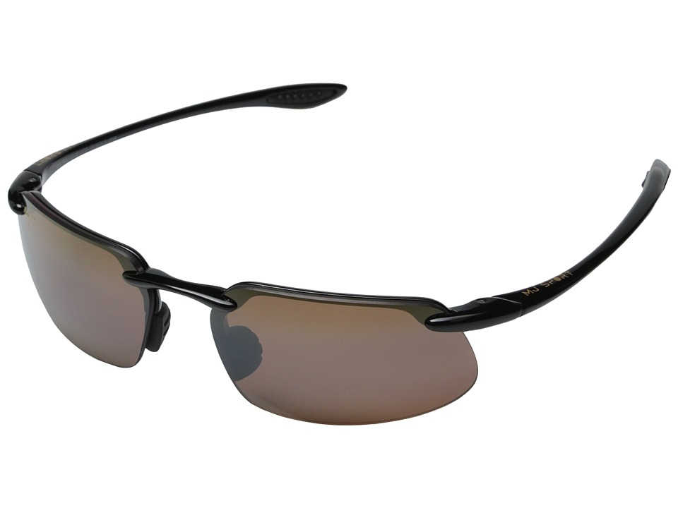 Maui Jim Kanaha (Gloss Black/HCL Bronze Lens) Sport Sunglasses