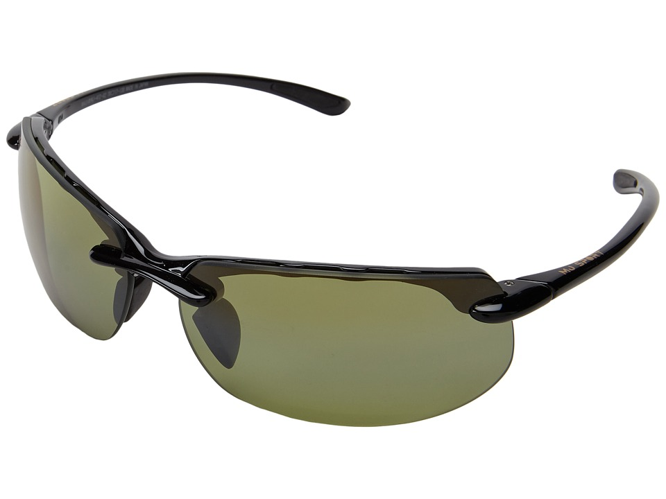 Maui Jim Banyans (Gloss Black/High Transmission Lens) Sport Sunglasses