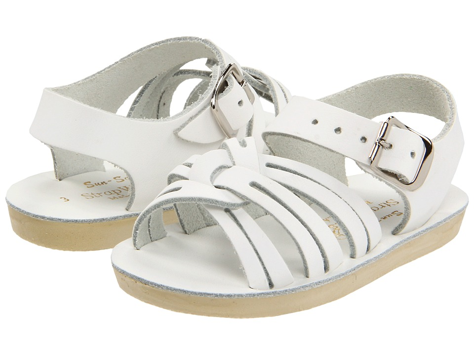 Salt Water Sandal by Hoy Shoes Sun San Strap Wees Infant/Toddler White Girls Shoes