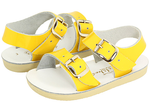 Salt Water Sandal by Hoy Shoes Sun-San - Sea Wees (Infant/Toddler) - Shiny Yellow