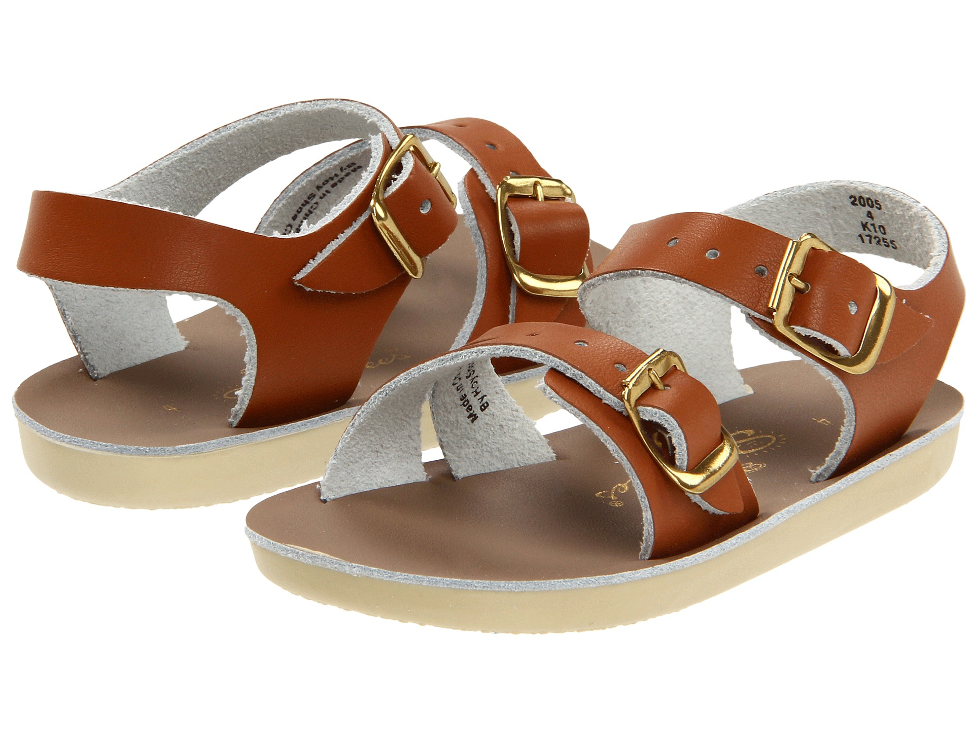 salt water sandal by hoy shoes sun san sea wees infant toddler tan free. Black Bedroom Furniture Sets. Home Design Ideas