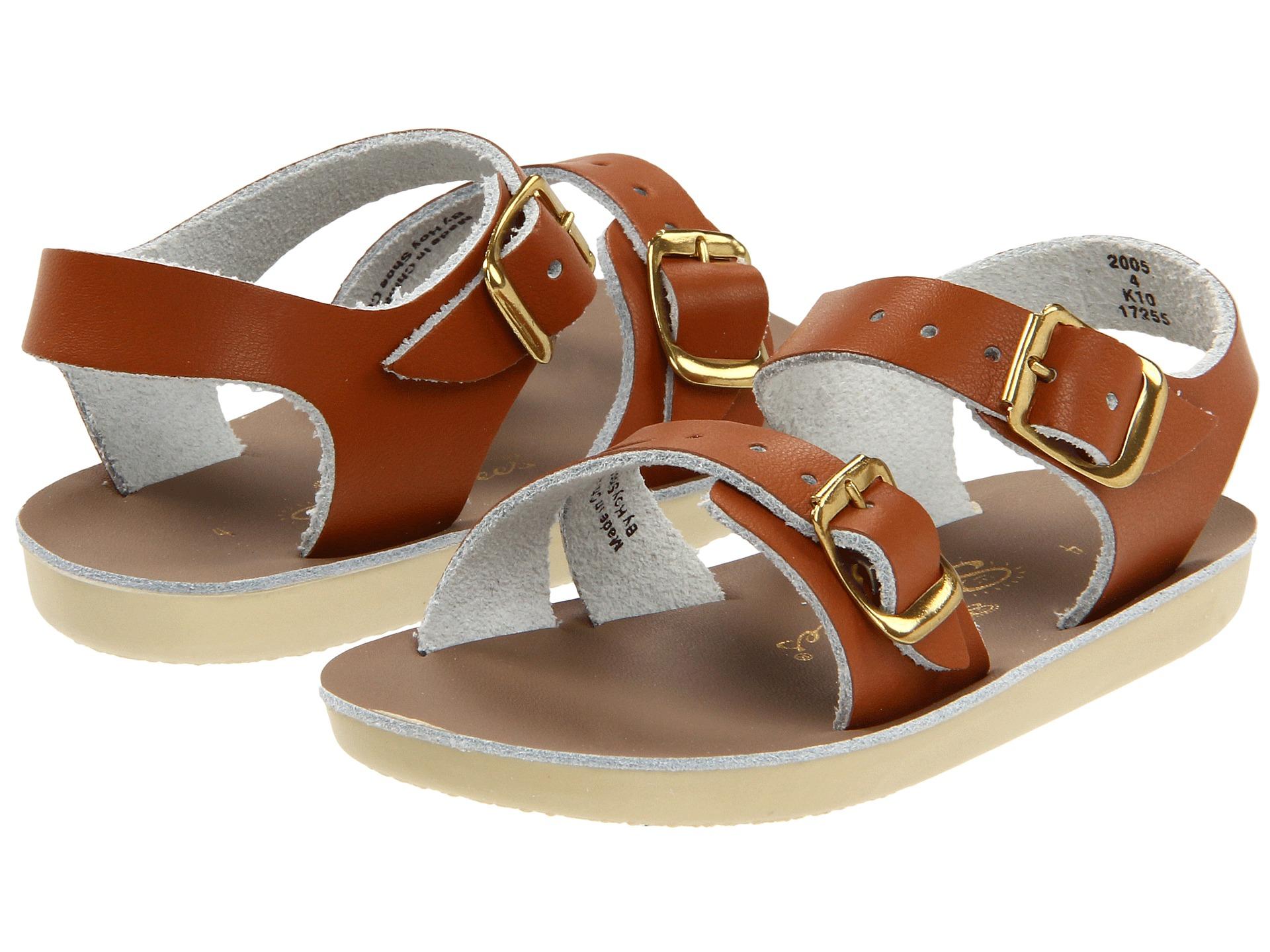 salt water sandal by hoy shoes sun san sea wees infant toddler tan free. Black Bedroom Furniture Sets. Home Design Ideas