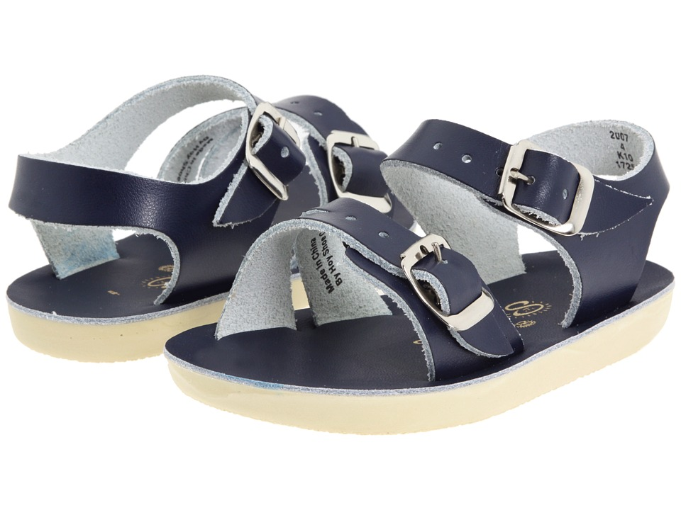 Salt Water Sandal by Hoy Shoes - Sun-San - Sea Wees (Infant/Toddler) (Blue/Navy) Kids Shoes