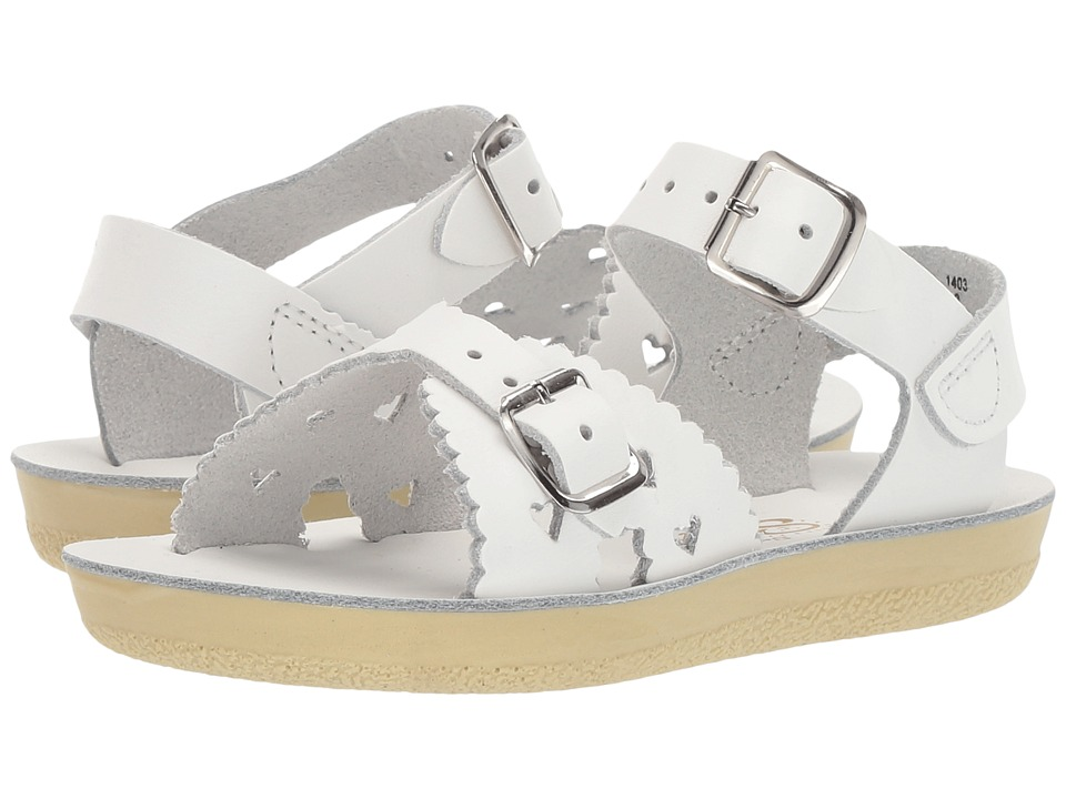 Salt Water Sandals Sun-San Sweetheart (Toddler/Little Kid) (White) Girls Shoes