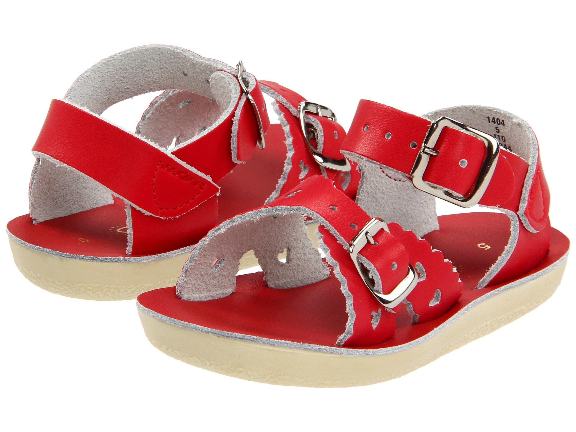 salt water sandal by hoy shoes sun san sweetheart toddler little kid red free. Black Bedroom Furniture Sets. Home Design Ideas