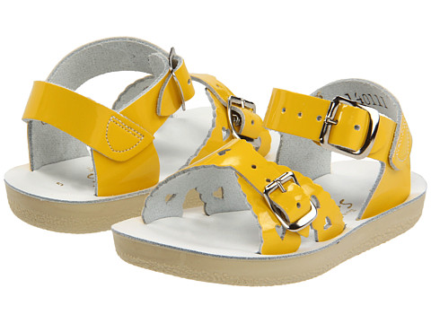 Salt Water Sandal by Hoy Shoes Sun-San - Sweetheart (Toddler/Little Kid) - Shiny Yellow