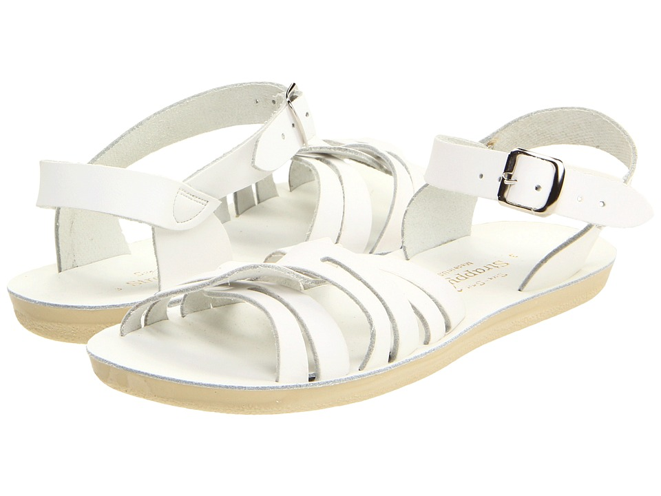 Salt Water Sandal by Hoy Shoes Sun-San Strappy (Toddler/Little Kid) (White) Girls Shoes