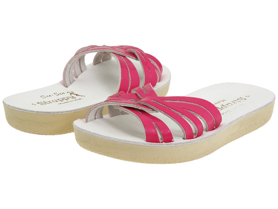 Salt Water Sandal by Hoy Shoes Sun-San Strappy Slide (Toddler/Little Kid) (Shiny Fuchsia) Girls Shoes
