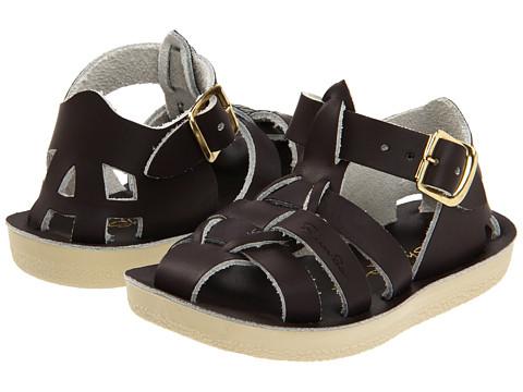 Salt Water Sandal by Hoy Shoes Sun-San - Sharks (Toddler/Little Kid) - Brown
