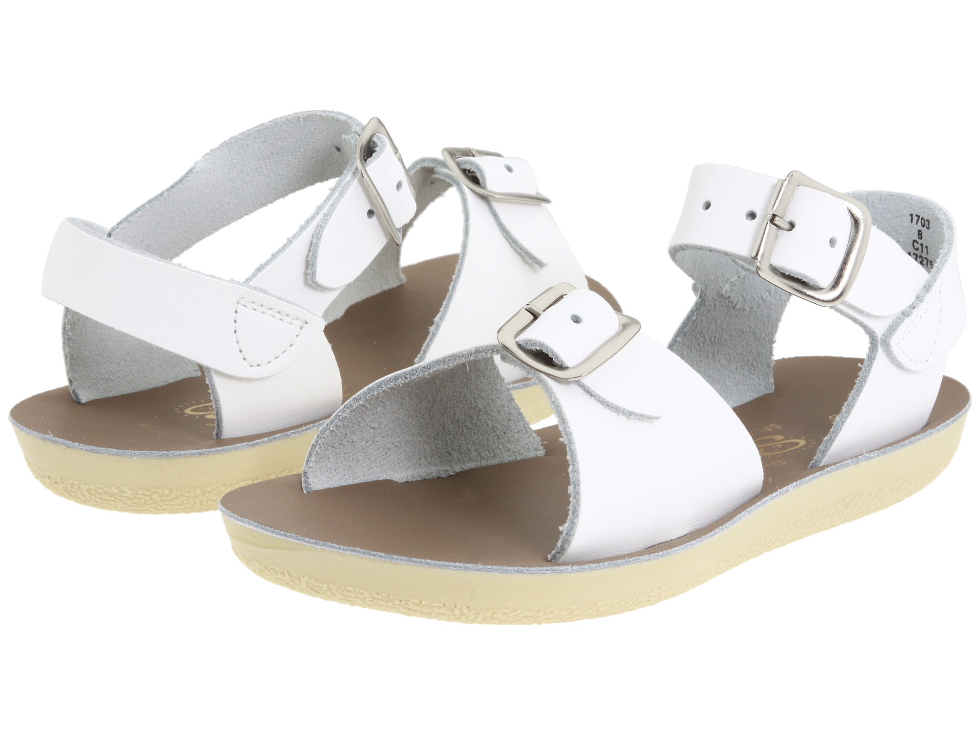 salt water sandal by hoy shoes sun san surfer toddler little kid white free. Black Bedroom Furniture Sets. Home Design Ideas